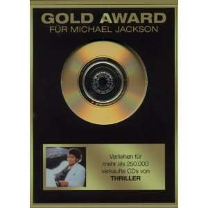 Gold Award Thriller Michael Jackson  Musik