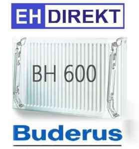 Buderus Kompakt Heizkörper Bauhöhe 600 mm L 400 3000 mm