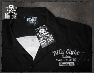 Billy Eight ★ The Hate Ball Number ★ Work Shirt Bowling Cutton S M
