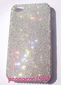 Clear 7ss Swarovski Crystal Apple iPhone 4 Back Case