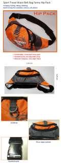 Light Sport Travel Waist Belt Bag Fanny Hip Pack Orange