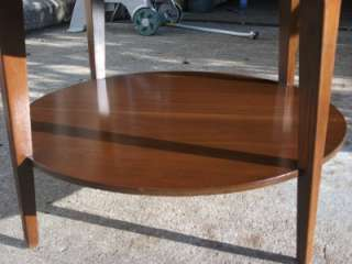 Mid Century Modern Retro MERSMAN Formica Round Side/End Table