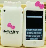 White Hello Kitty Silicone Case Cover Skin for iPhone 3GS 3G