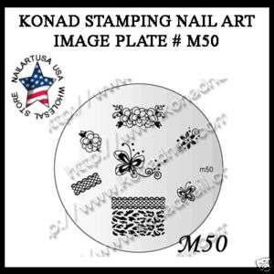 IMAGE PLATE M50 Konad Stamping Nail Art Design Nails