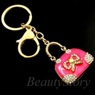 Rhinestone Crystal Handbag Key Chain Cellphone