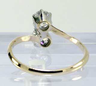 VICTORIAN 1.10C DOUBLE EUROPEAN CUT DIAMOND 14K RING $4950 RETAIL