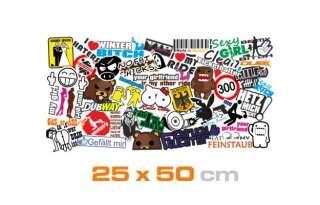 E208 Stickerbomb Shocker Sticker Bomb Stickerbombing Aufkleber