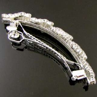 SHIPPING, clear rhinestone crystal hair barrette clip wedding