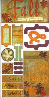 CARDSTOCK STICKER SHEETS Family Fall Zoo Boy Home Love CHOICE