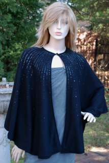 RALPH LAUREN BLACK LABEL BEADED CAPE M RT$898