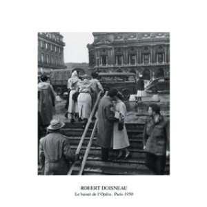 Robert Doisneau   Der Kuss Vor Der Oper Poster Kunstdruck (80 x 60cm
