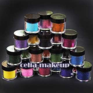 24 Color Jumbo size Metal Shiny Glitter Nail Art Tool Kit Acrylic UV