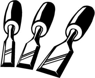 Chisels Tools Vinyl Decal Car Truck Window Sticker