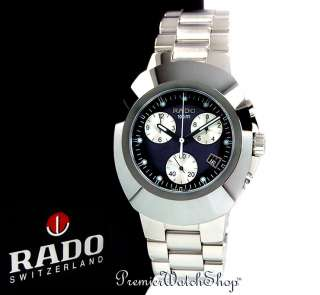 RADO ORIGINAL CHRONO DIASTAR XL R12638173 BLK/BLUE DIAL MENS WATCH