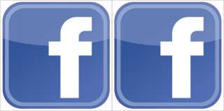 Facebook Logo Vinyl Decal Sticker Set   2 decals   Gloss Laminated