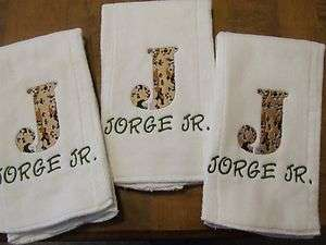 Monogrammed Burp Cloths Personalized Custom Baby/Shower