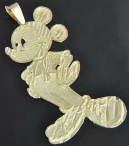 Estate Vtg 10K & 14K Yellow Gold Large Mickey Mouse Disney Slide Charm