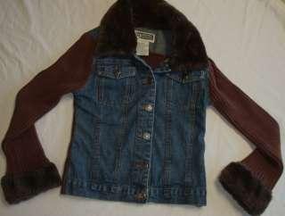 Girls Route 66 Blue Denim Jean Jacket Size 10   12