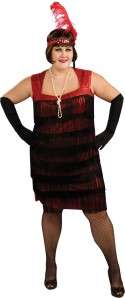ROARING 20S FLAPPER DRESS COSTUME PLUS SIZE RU17790