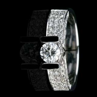 CT REAL ENGAGEMENT NATURAL DIAMOND RING 18K GOLD WG