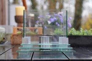 New Table Glass Fire Burner Bio Ethanol Indoor/Outdoor