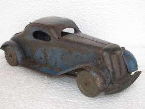 Rare & Huge Wind up Vintage Tin Car Toy, British Made