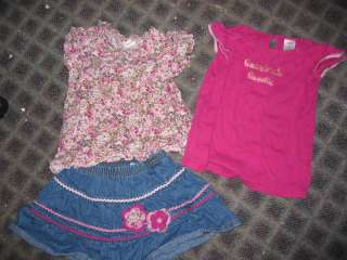 Lot Gymboree 4T girls jeans sweaters heart & floral