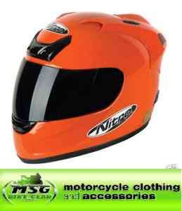 Nitro N250 VX Motorcycle Power Boat Helmet ORANGE XL