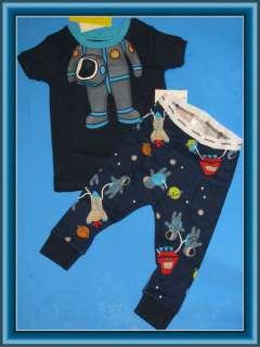 NWT baby GAP glow in dark ASTRONAUT space pajama sleep set BOYS 6m 3T