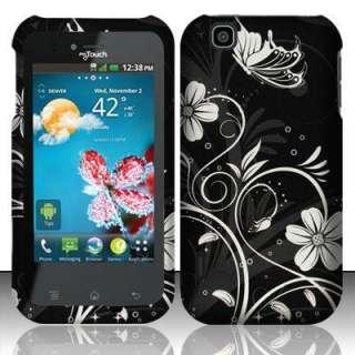 For T Mobile LG MyTouch 4G E739 White Flower Skin Snap on Hard Case