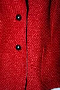 New $595 Dana Buchman Red Coat Jacket Wool Blens 10