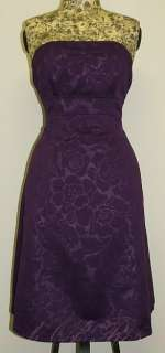 Alyn Paige New York Floral Strapless Prom Dance Party Dress Purple