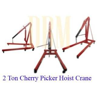 Folding Air Hydraulic Cherry Picker Shop Press Engine Crane Hoist Lift