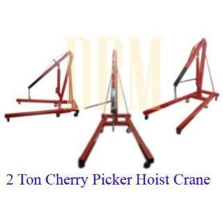 Folding Air Hydraulic Cherry Picker Shop Press Engine Crane Hoist Lift