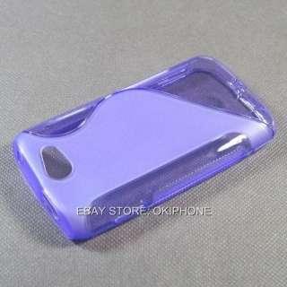 Purple Soft Gel TPU Case Cover For Samsung Galaxy W i8150 / Wonder