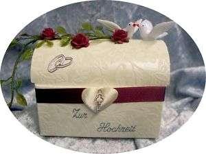Geldgeschenk Geschenk Hochzeit *** TURTELTAUBEN ***