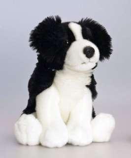 Puppy SITTING DOG BORDER COLLIE 30cm Soft Toy KEEL TOYS