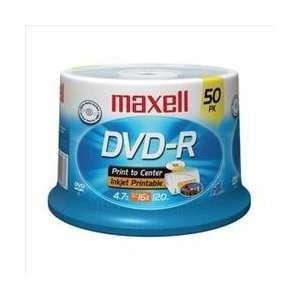 Maxell 638022 50PK DVD  R 16 X 4.7 GB WHITE PRINTABLE