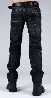 Italienische Jeans KOSMO LUPO STAR BLACK DEVIL G.W31