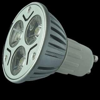 LOT SPOT AMPOULE 3x1W 3 LED 3W GU10 BLANC CHAUD 240 V