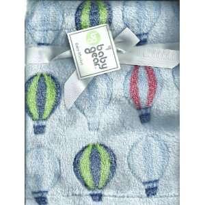 Cutie Pie Hot Air Balloon Baby Blanket: Blue: Baby