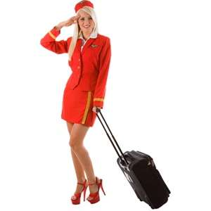 PLUS SIZE 20 22 VIRGIN AIR HOSTESS FANCY DRESS LADY