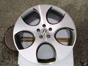 18 VW GOLF GTI ALLOY WHEELS GUNMETAL POLISHED MONZA 2