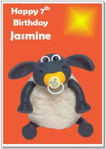 Timmy Time Shaun Sheep Birthday Personalised Card A6