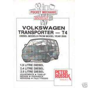 VW Volkswagen Transporter T4 1.9/2.4/2.5 Diesel 2000 on