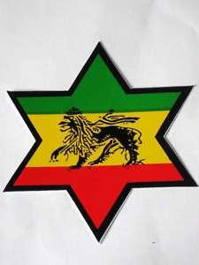 Aufkleber, Sticker Stern Star Rasta Lion Reggae