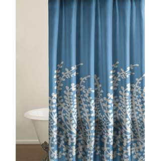 City Scene Branches Shower Curtain in Blue  Wayfair