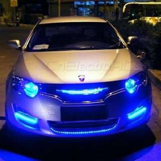 Tira Adhesiva 60 LEDs Luz Azul para Decorar Coche 120cm