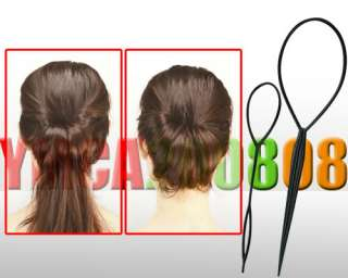 2pcs Topsy Tail Hair Braid Ponytail Maker Styling Tool