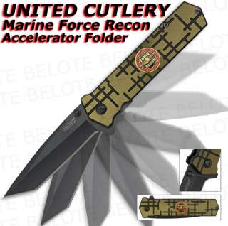 United Marine Force Recon Tanto Assisted Folder UC2712